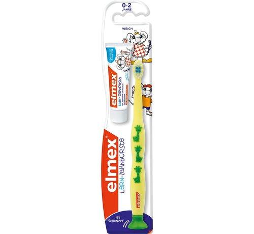 Elmex Elmex Leertandenborstel 0-2 Jaar + 12ml Tandpasta