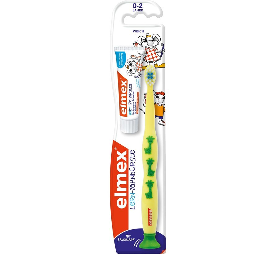 Elmex Leertandenborstel 0-2 Jaar + 12ml Tandpasta