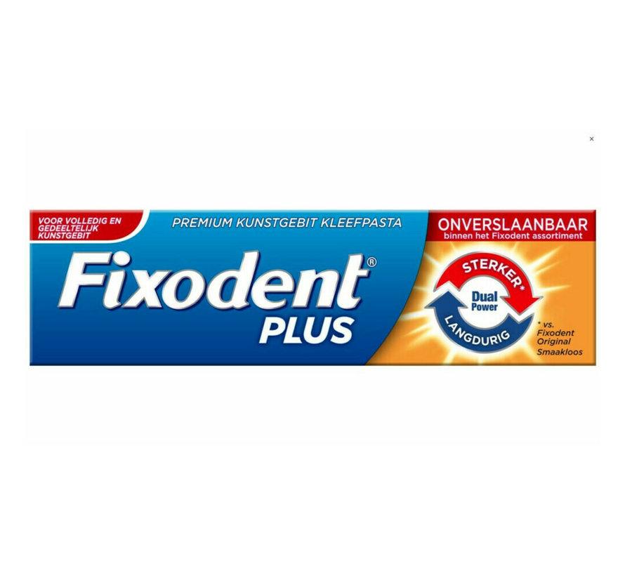 6x Fixodent Plus Dual Power Premium Kleefpasta - 40 gram