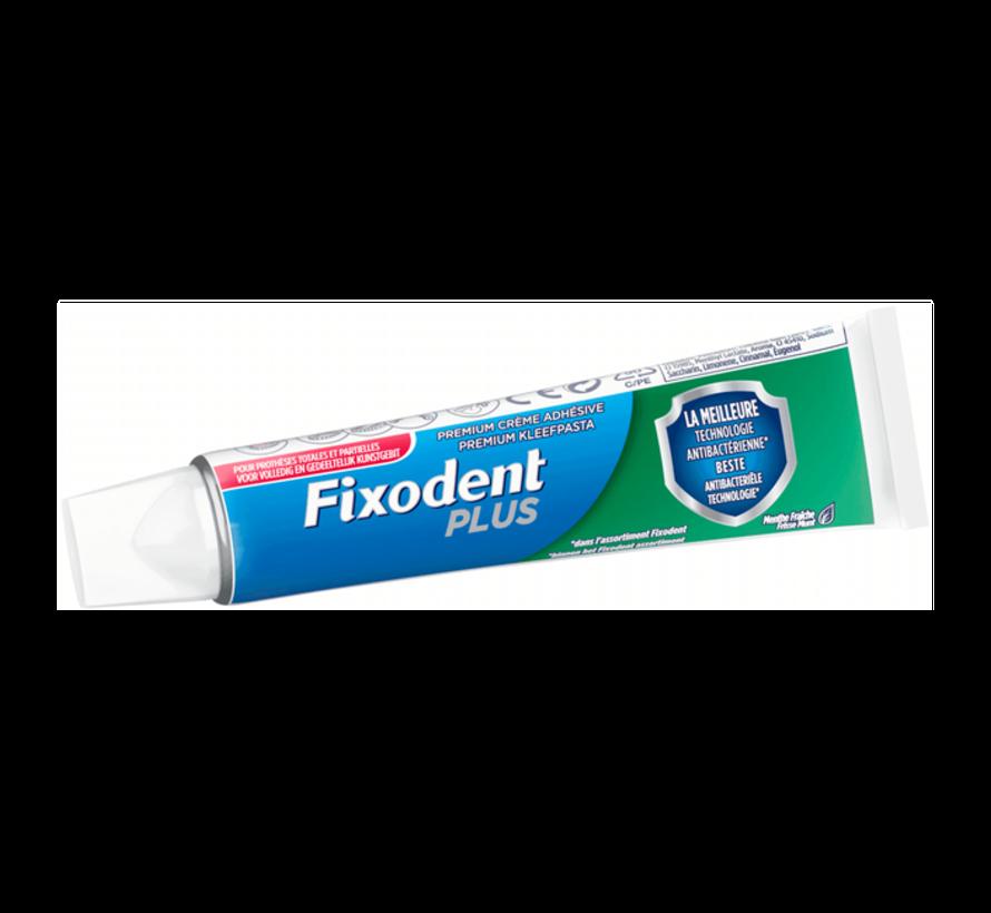 6x Fixodent Plus Duo Bescherming Antibacterieel - 40 gram