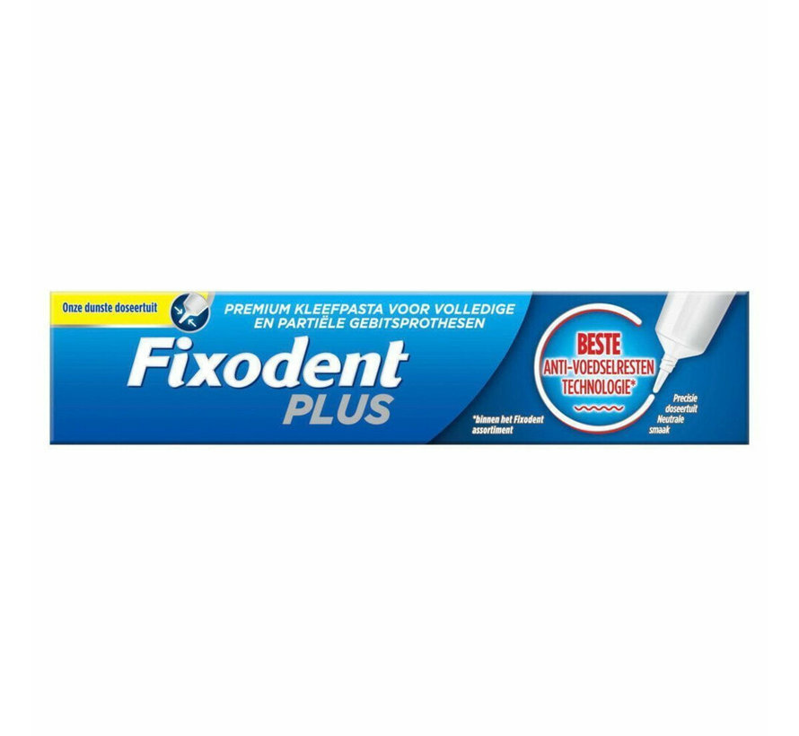 6x Fixodent Plus Anti-voedselresten Kleefpasta 40 gram