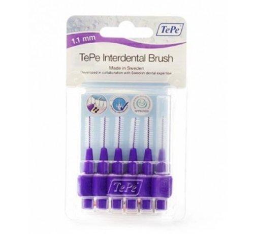 TePe 10x TePe Ragers 1,1 mm Paars blister à 6 stuks