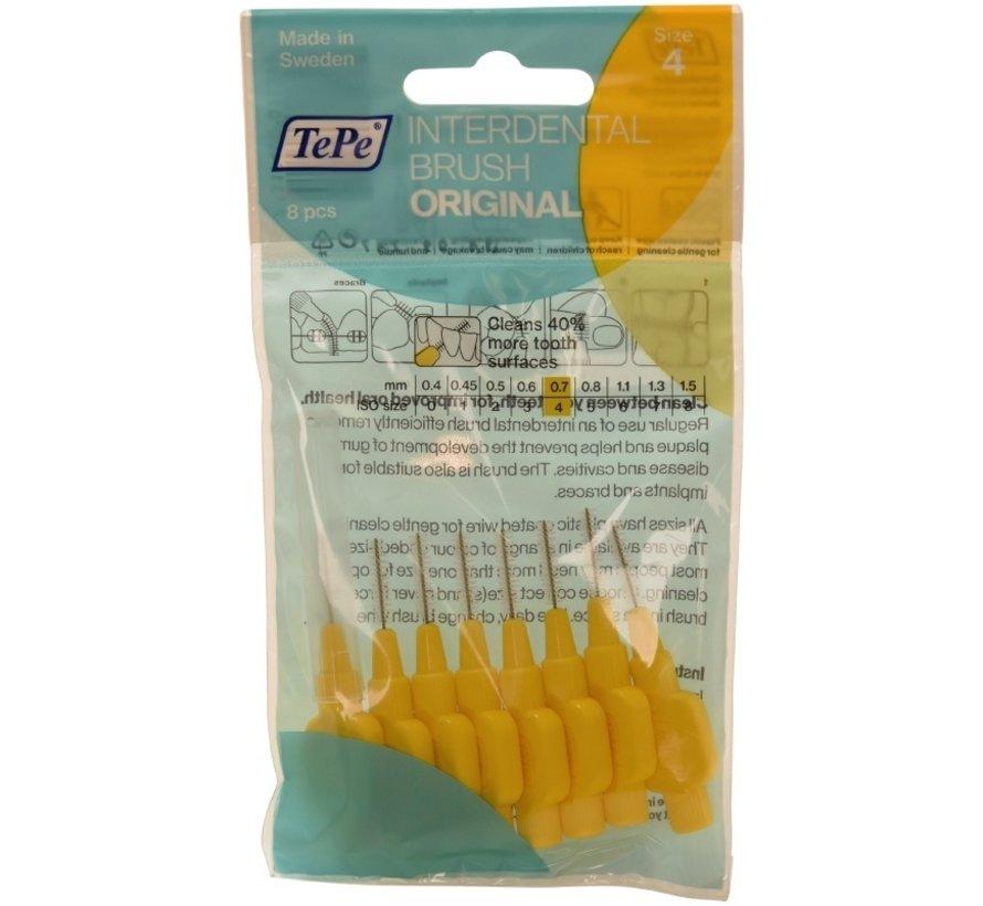 3x TePe Ragers 0,7 mm Geel blister à 8 stuks