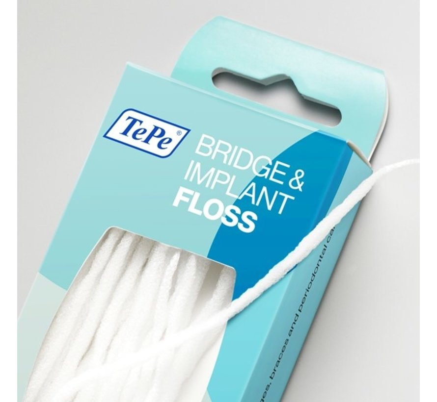 10x TePe Bridge & Implant Floss 30 stuks
