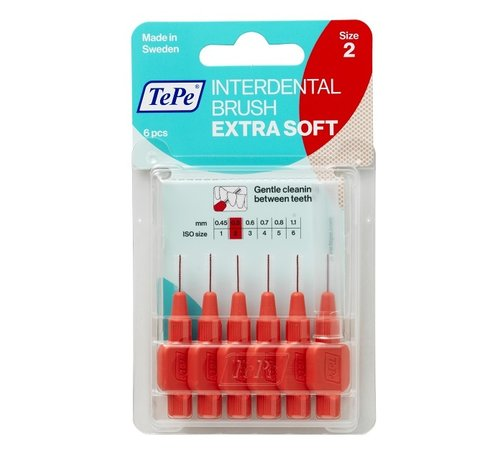 TePe Tepe X Zacht Ragers - Interdentale Borstels 0.5mm Lichtrood Voordeelverpakking 10 stuks