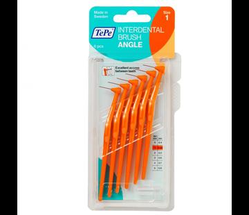 TePe 6x TePe Angle Ragers 0,45 mm Oranje blister à 6 stuks