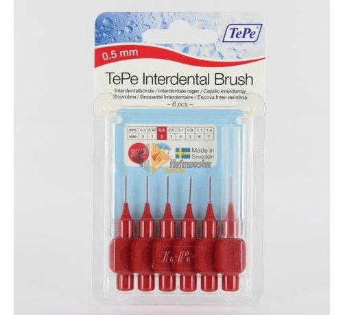 TePe Tepe Original Ragers - Interdentale Borstels 0.5mm Rood Voordeelverpakking 10 stuks