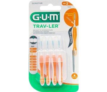 GUM Gum Travler Ragers 0.9mm Oranje - 4 stuks