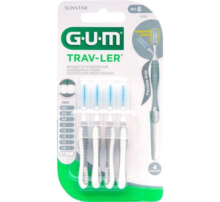 Gum Travler Ragers 2.0mm Grijs - 4 stuks