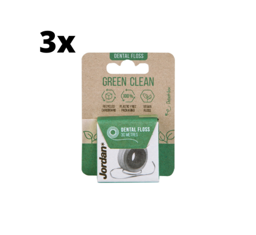 Jordan 3x Jordan Green Clean Floss 30m - Voordeelverpakking