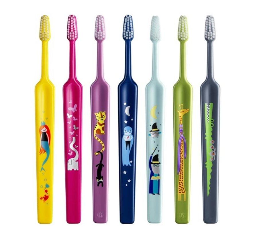 TePe (Kids) Select Zoo Zacht - Tandenborstel - 3 stuks - Voordeelverpakking - Leeftijd 3+