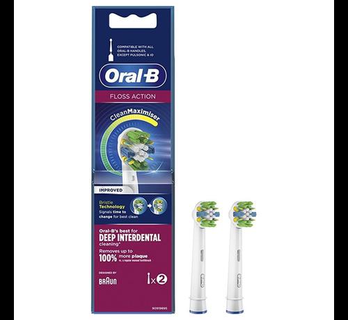 Oral-B Oral-B Floss Action Opzetborstel CleanMaximiser - 2 stuks