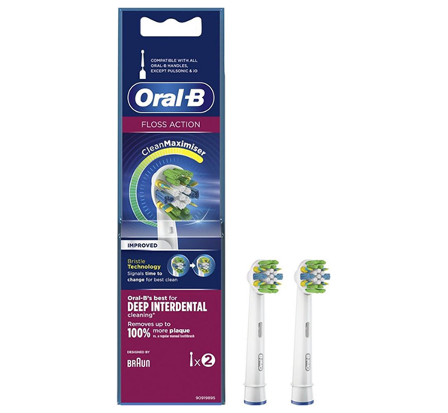 Oral-B Floss Action Opzetborstel CleanMaximiser - 2 stuks