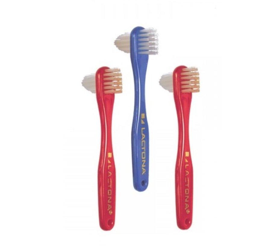 Lactona Protheseborstel - 12 Stuks - Tandenborstel - Voordeelverpakking