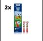 Oral-B Stages Power Kids Opzetborstels - Mickey Mouse - 2 x 2 stuks - Voordeelverpakking