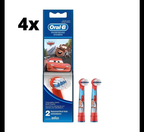 Oral-B Oral-B Stages Power Kids Opzetborstels - Cars - 4 x 2 stuks - Voordeelverpakking