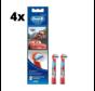 Oral-B Stages Power Kids Opzetborstels - Cars - 4 x 2 stuks - Voordeelverpakking