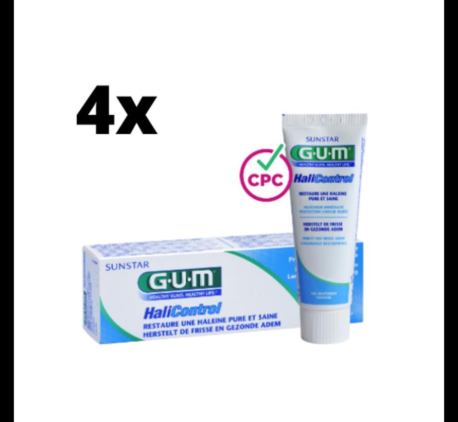 4x GUM Tandpasta HaliControl 75 ml