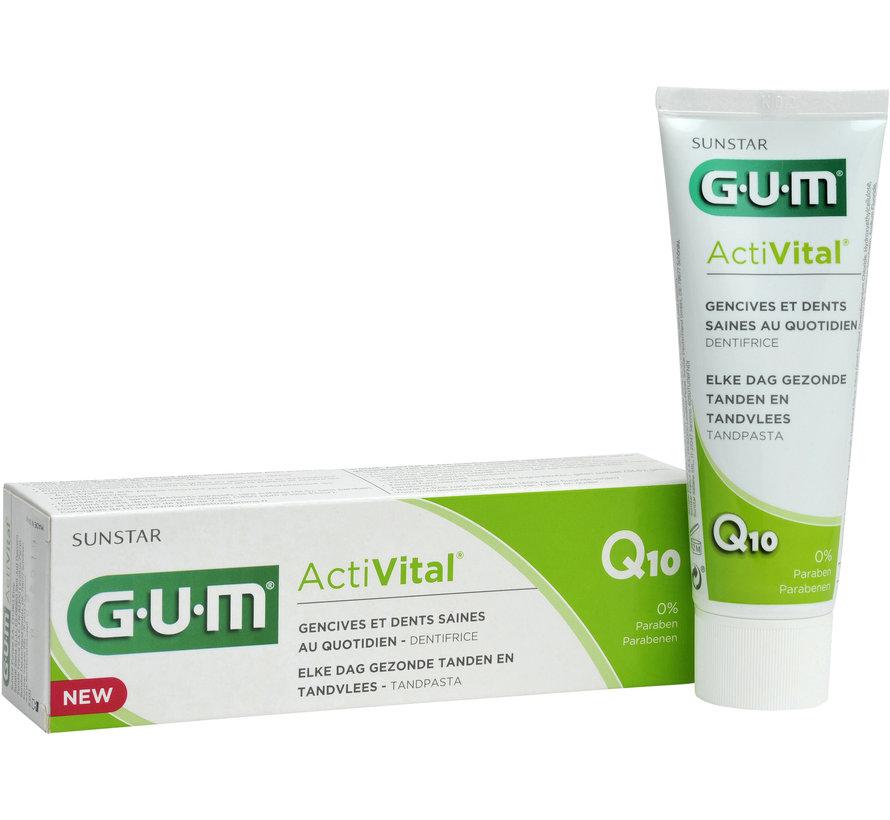 4x GUM Tandpasta ActiVital 75 ml