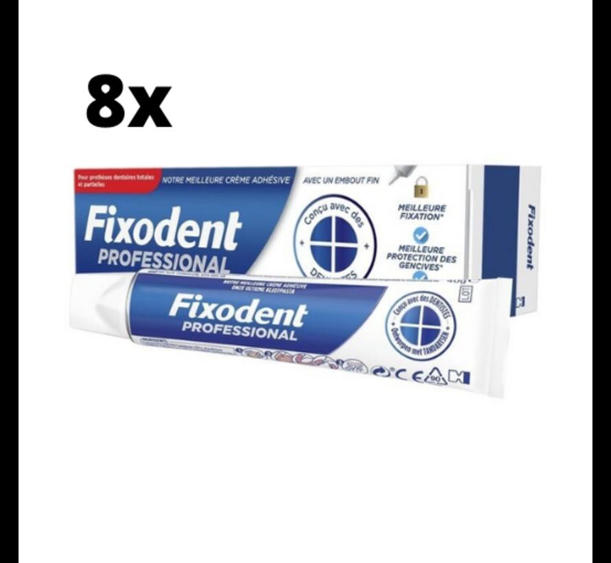 Fixodent Professional Kleefpasta - 8 x 40 gram - Voordeelpakket