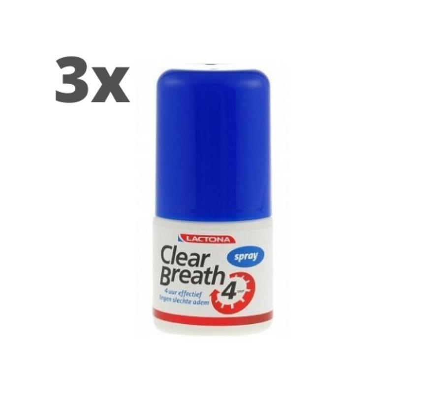 Lactona Clear Breath Mondspray - 3 x 25 ml - Voordeelverpakking