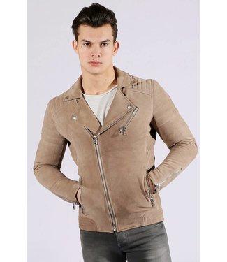 Zumo-Leather Jackets-NORTON-SUEDE-Beige
