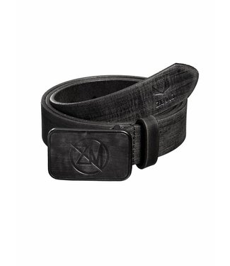 Zumo-Belts-LEATHER LOGO-Black
