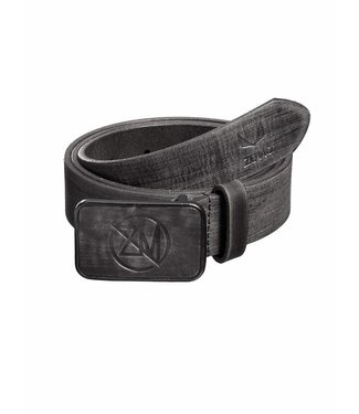 Zumo-Belts-LEATHER LOGO-Dark Grey