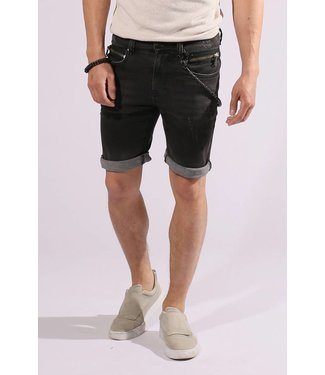 Zumo-Jeans-STEVE-ZIP SHORT-Black