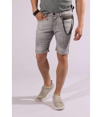 Zumo-Jeans-STEVE-ZIP SHORT-Grey