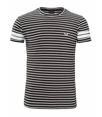 Zumo-T-shirts-FRANKIE-X STRIPE-Black White