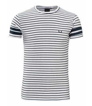 Zumo-T-shirts-FRANKIE-X STRIPE-White Navy