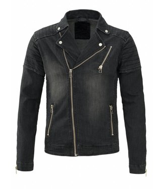 Zumo-Jackets-NORTON-V DENIM-Black