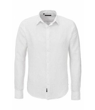 Zumo Shirts DORON-LINEN White