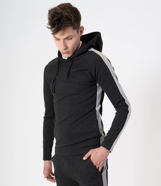 Zumo-Sweatshirts-HOODY-SIDE STRIP-Anthracite