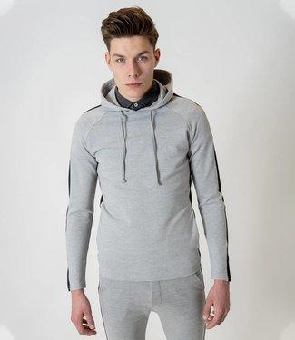 Zumo-Sweatshirts-HOODY-SIDE STRIPE-Ecru