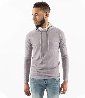 Monavoid-Sweatshirts-HOODY-CHECK-Grey/White