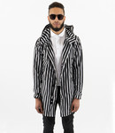 Zumo-Coats-DELRAY-STRIPE-Black