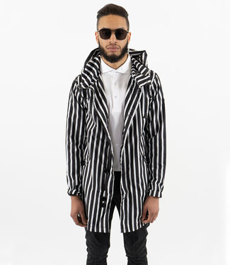 Zumo Coats DELRAY-STRIPE Black