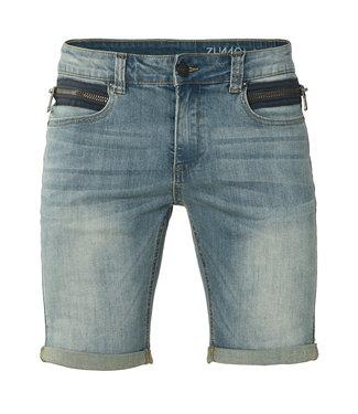 Zumo-Jeans-STEVE-ZIP SHORTS-Dirty Blue