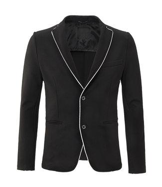 Zumo Blazers ALPARE-COLLAR-PIPING Black