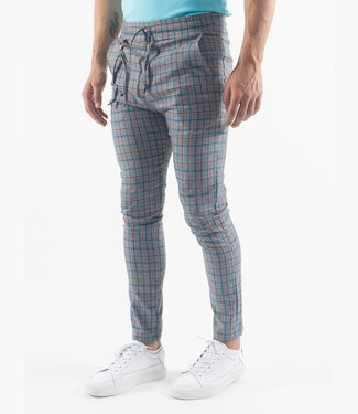 Monavoid Pants DIVIANO-CHECK BluePink