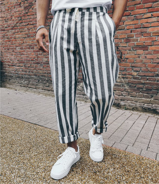 Monavoid-Pants-TRESA-Linen-Stripe-White-Black