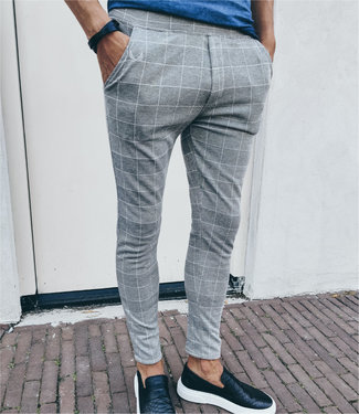 Zumo-Pants-VISGRADEN-CHECK-Light-Grey