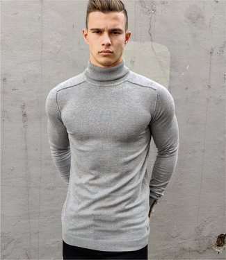 Zumo-Pulls-SPANDET-ROLLNECK-Light Grey