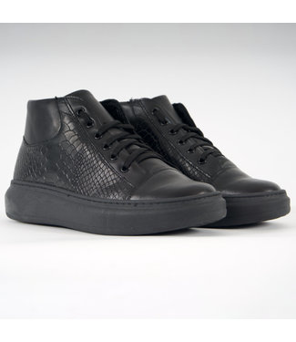 Made in Italy MadeInItaly Sneakers MID-HIGH-SNAKE Black