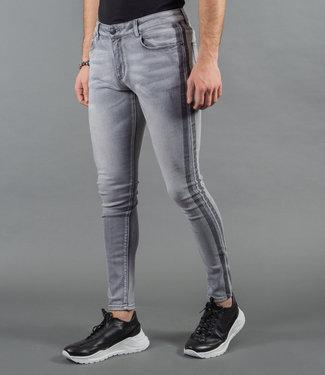 Zumo Jeans STEVE-SIDE-STRIPE Grey