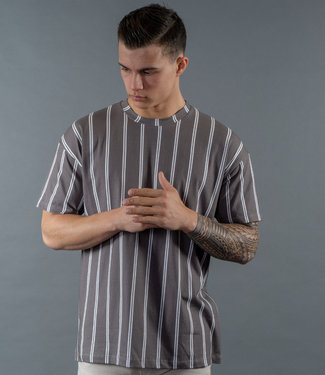 Monavoid-T-shirt-DICIAMO-STRIPES-Grey