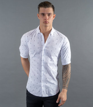 Zumo Shirts BAKER-ANCHOR WhiteNavy