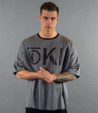 Okii Okii-T-shirt-AKAKO-Grey